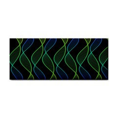 Rainbow Helix Black Hand Towel by designworld65