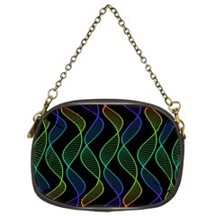 Rainbow Helix Black Chain Purses (one Side)  by designworld65