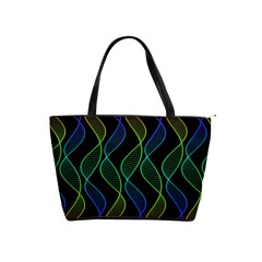 Rainbow Helix Black Shoulder Handbags by designworld65