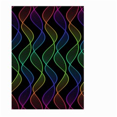 Rainbow Helix Black Large Garden Flag (two Sides) by designworld65