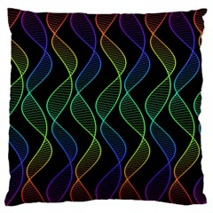 Rainbow Helix Black Large Cushion Case (one Side) by designworld65