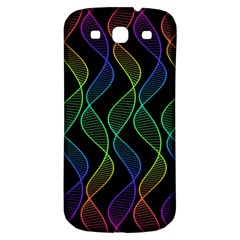 Rainbow Helix Black Samsung Galaxy S3 S Iii Classic Hardshell Back Case by designworld65