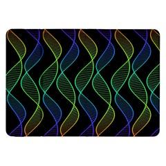 Rainbow Helix Black Samsung Galaxy Tab 8 9  P7300 Flip Case by designworld65
