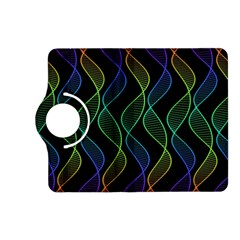 Rainbow Helix Black Kindle Fire Hd (2013) Flip 360 Case by designworld65