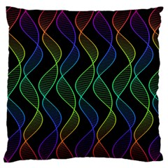 Rainbow Helix Black Standard Flano Cushion Case (two Sides) by designworld65