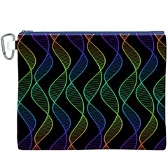 Rainbow Helix Black Canvas Cosmetic Bag (xxxl) by designworld65