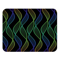 Rainbow Helix Black Double Sided Flano Blanket (large)  by designworld65