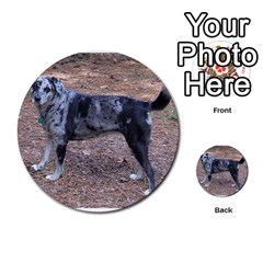 Blue Merle Catahoula Full Multi-purpose Cards (Round)  by TailWags