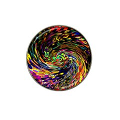 Abstract Art, Colorful, Texture Hat Clip Ball Marker by AnjaniArt