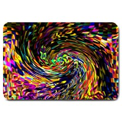 Abstract Art, Colorful, Texture Large Doormat  by AnjaniArt