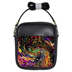 Abstract Art, Colorful, Texture Girls Sling Bags by AnjaniArt