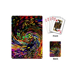 Abstract Art, Colorful, Texture Playing Cards (mini)  by AnjaniArt