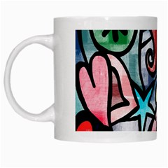 Abstract Doodle White Mugs