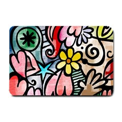 Abstract Doodle Small Doormat