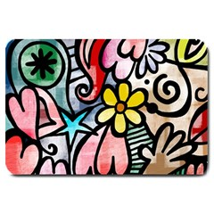 Abstract Doodle Large Doormat