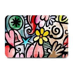 Abstract Doodle Plate Mats