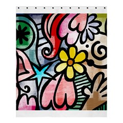 Abstract Doodle Shower Curtain 60  X 72  (medium)  by AnjaniArt