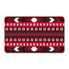 Asterey Red Pattern Magnet (rectangular)