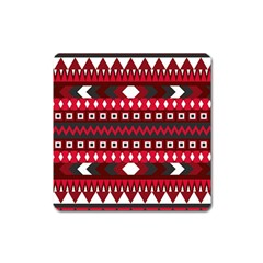 Asterey Red Pattern Square Magnet