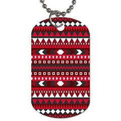 Asterey Red Pattern Dog Tag (two Sides)