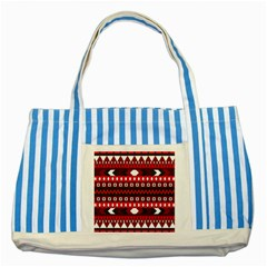Asterey Red Pattern Striped Blue Tote Bag