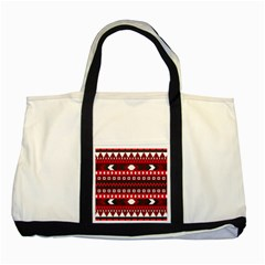Asterey Red Pattern Two Tone Tote Bag