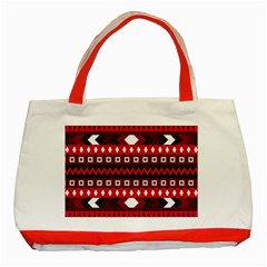 Asterey Red Pattern Classic Tote Bag (red)