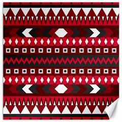 Asterey Red Pattern Canvas 12  X 12