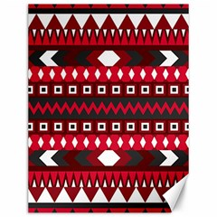 Asterey Red Pattern Canvas 12  X 16
