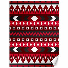 Asterey Red Pattern Canvas 36  X 48
