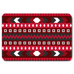 Asterey Red Pattern Large Doormat
