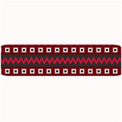 Asterey Red Pattern Large Bar Mats
