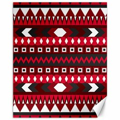 Asterey Red Pattern Canvas 11  X 14