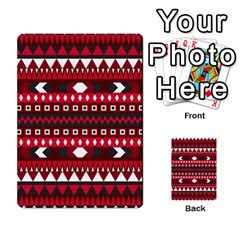 Asterey Red Pattern Multi Purpose Cards (rectangle)