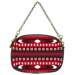 Asterey Red Pattern Chain Purses (one Side)