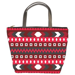Asterey Red Pattern Bucket Bags