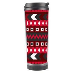Asterey Red Pattern Travel Tumbler