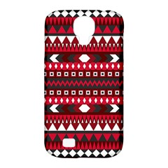 Asterey Red Pattern Samsung Galaxy S4 Classic Hardshell Case (pc+silicone)