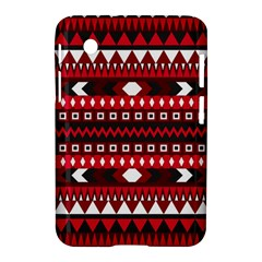 Asterey Red Pattern Samsung Galaxy Tab 2 (7 ) P3100 Hardshell Case