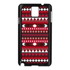 Asterey Red Pattern Samsung Galaxy Note 3 N9005 Case (black)