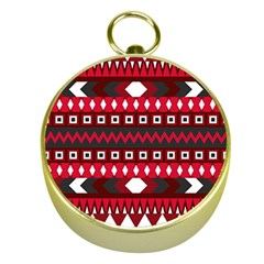 Asterey Red Pattern Gold Compasses