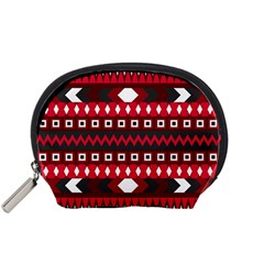 Asterey Red Pattern Accessory Pouches (small)