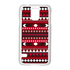 Asterey Red Pattern Samsung Galaxy S5 Case (white)