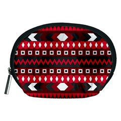 Asterey Red Pattern Accessory Pouches (medium)