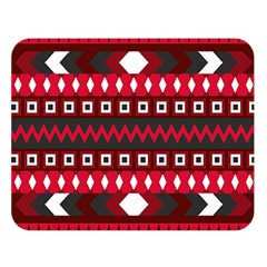 Asterey Red Pattern Double Sided Flano Blanket (large)