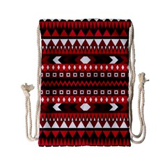 Asterey Red Pattern Drawstring Bag (small)