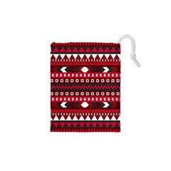 Asterey Red Pattern Drawstring Pouches (xs)