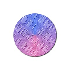Baby Pattern Rubber Round Coaster (4 Pack)