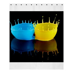 Bicolor Paintink Drop Splash Reflection Blue Yellow Black Shower Curtain 60  X 72  (medium)  by AnjaniArt