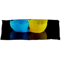 Bicolor Paintink Drop Splash Reflection Blue Yellow Black Body Pillow Case Dakimakura (two Sides)